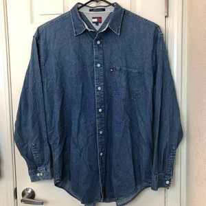 Tommy Hilfiger Men's Denim Button Down